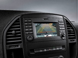 Vito panel van, reversing camera